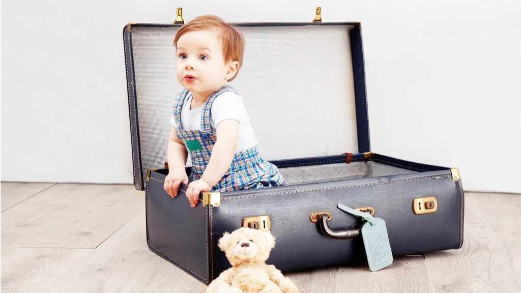 Have baby, will travel. Image: Getty