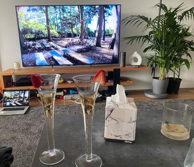 Rachel Baxter attends friend's wedding virtually