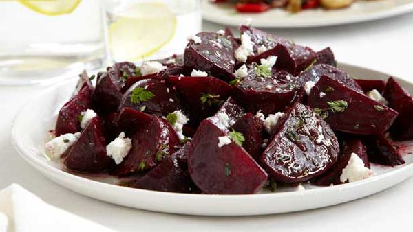 Curtis Stone's beetroot salad with balsamic and goat's cheese
