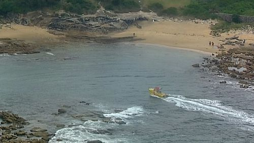 The man was in the water for 30 minutes before being rescued. (9NEWS)