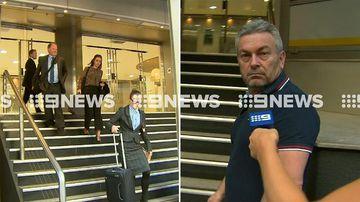 Husband of Melbourne mother Karen Ristevski arrives at lawyer's office