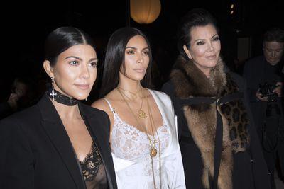 Kourtney Kardashian, Kim Kardashian and Kris Jenner at Givenchy, spring/summer '17, Paris Fashion Week