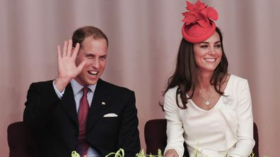 Prince William, Duke of Cambridge and Catherine, Duchess of Cambridge arrive at Parliament Hill for Canada Day Noon Show Celebrations on July 1, 2011 in Ottawa, Canada
