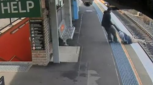 Luckily, the man was pulled to safety by another passenger, who spotted him moments before disaster struck. Picture: Supplied.