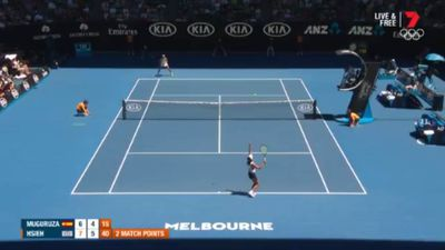 Muguruza beaten at Australian Open