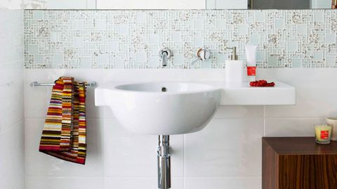 Bathroom taps and tiles