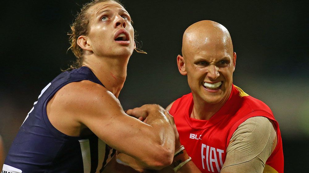Nat Fyfe (L) and Gary Ablett. (Getty-file)