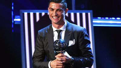 Football: Cristiano Ronaldo wins FIFA Player of the Year award