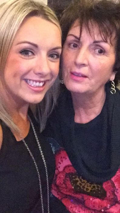 Louise McCann with her late mum Catherine McCann