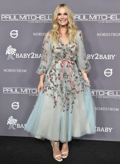 Actress Molly Simms, inMarchesa, at the 2018 Baby2Baby Gala in Los Angeles, November, 2018