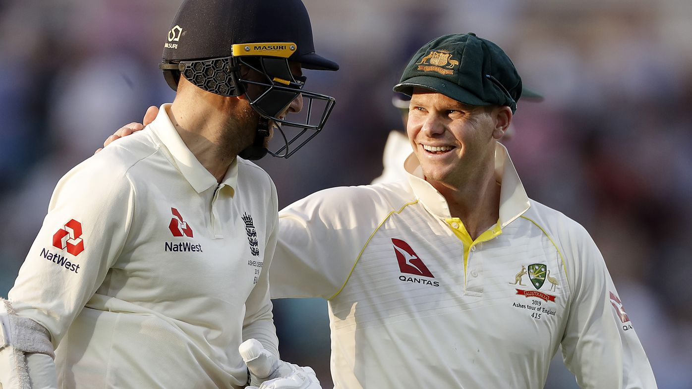 Steve Smith and Jack Leach
