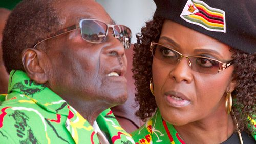 Robert Mugabe and his wife Grace. (AAP)
