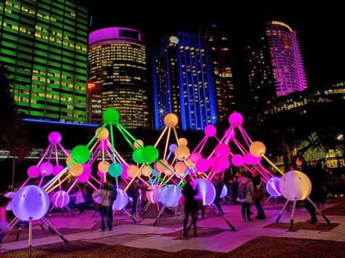 The festival's exhibitions now extend beyond the Sydney CBD and into the suburbs, as far as Chatswood. Picture: Vivid Sydney.