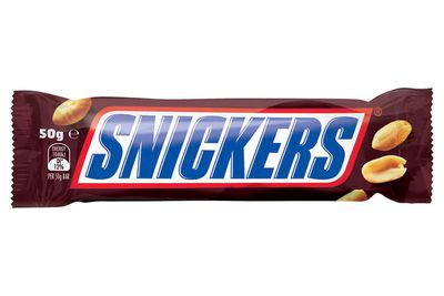 About half a Snickers bar is 100 calories