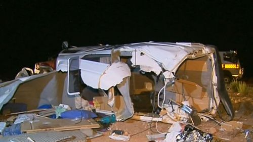 The crash occurred on the Stuart Highway about 45km north of Pimba. (9NEWS)