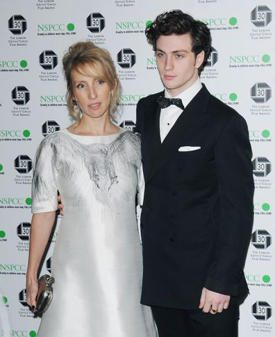 Sam and Aaron Taylor-Johnson in 2010