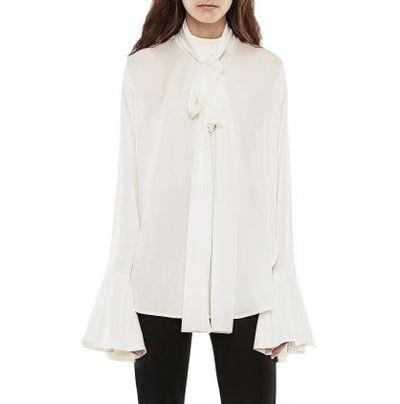 "Ellery pussy-bow blouse in Silk, $1015 at <a href=""http://shop.davidjones.com.au/djs/ProductDisplay?catalogId=10051&productId=10104502&langId=-1&storeId=10051"" target=""_blank"">Davidjones.com.au</a>"