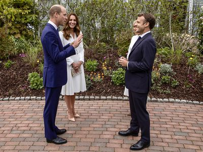 Prince William and Kate Middleton at a G7 Summit reception