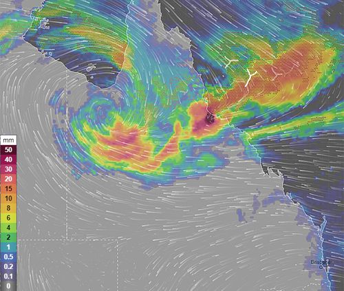 Queensland Floods Weather Map