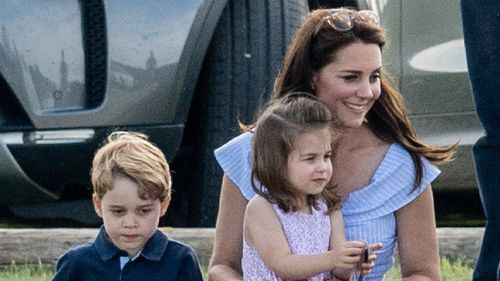 Kate with George and Charlotte at the park