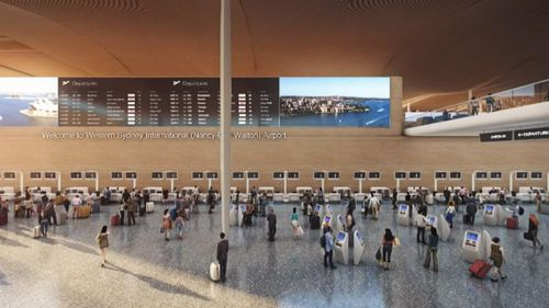 An impression of the new airport.