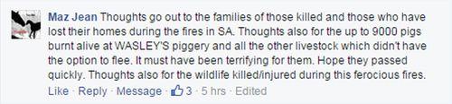 Facebook post about livestock. (Facebook)