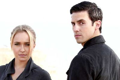 <B>The couple:</B> Hayden Panettiere dated her co-star Milo Ventimiglia; she played cheerleader Claire Bennett, and he played Peter Petrelli, whose brother Nathan was secretly Claire's father. Though we're not sure if dating your onscreen niece is any more palatable than dating your onscreen sister...