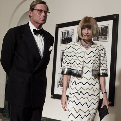 Anna Wintour and Shelby Bryan arrive at the White House for a state dinner 19, 2011 in Washington, DC.