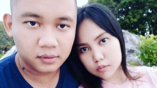 Intan Syari and her fiance Dr Rio Nanda Pratama pose in a photo posted online before his death in the Lion Air tragedy.