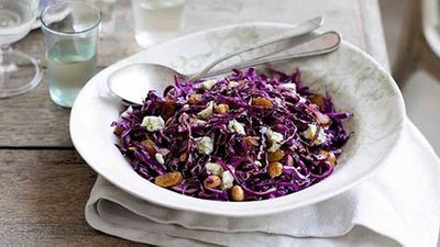 <strong>Red cabbage and hazelnut salad</strong>