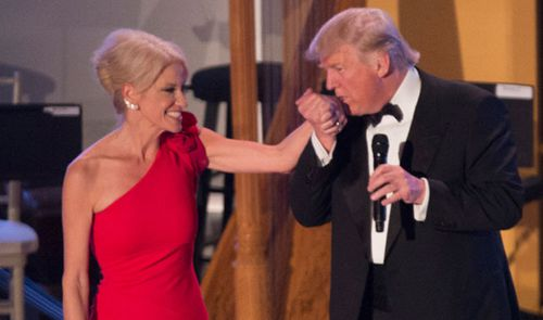 Trump aide Kellyanne Conway punched man at inaugural ball