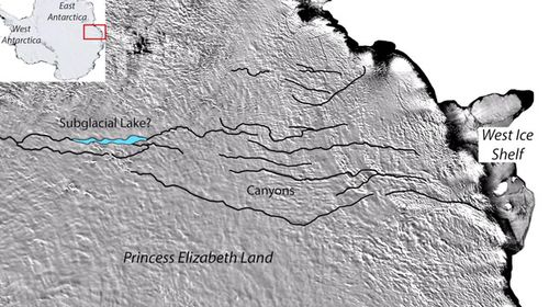 World's largest canyon discovered beneath Antarctica