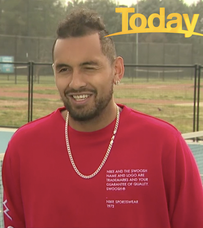 Kyrgios was more than happy to answer the question.