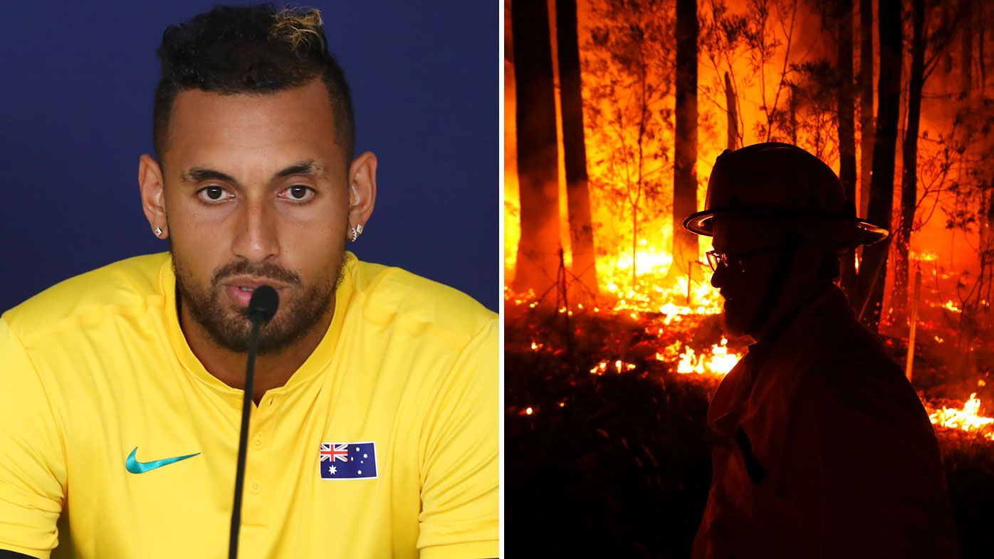 Nick Kyrgios kickstarts Tennis Australia bushfire support