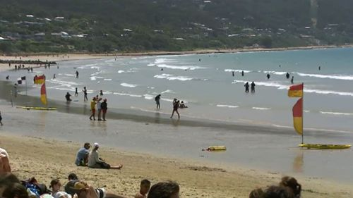 Surf Life Saving Victoria was expecting a hectic day due to the hot weather and strong winds. (9NEWS)