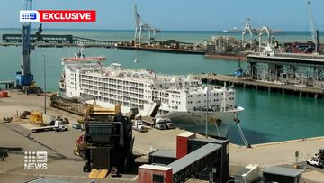 The Polaris 3 docked in Townsville on Thursday after 17 days at sea.