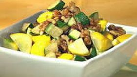 Zucchini With Squash And Walnuts