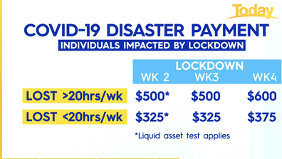 Eligibility criteria for COVID-19 Disaster Payment.