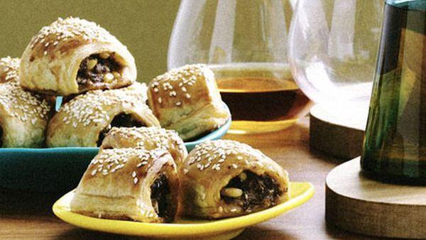 "<a href=""http://kitchen.nine.com.au/2016/05/19/13/57/lamb-and-harissa-sausage-rolls"" target=""_top"">Lamb and harissa sausage rolls</a>"