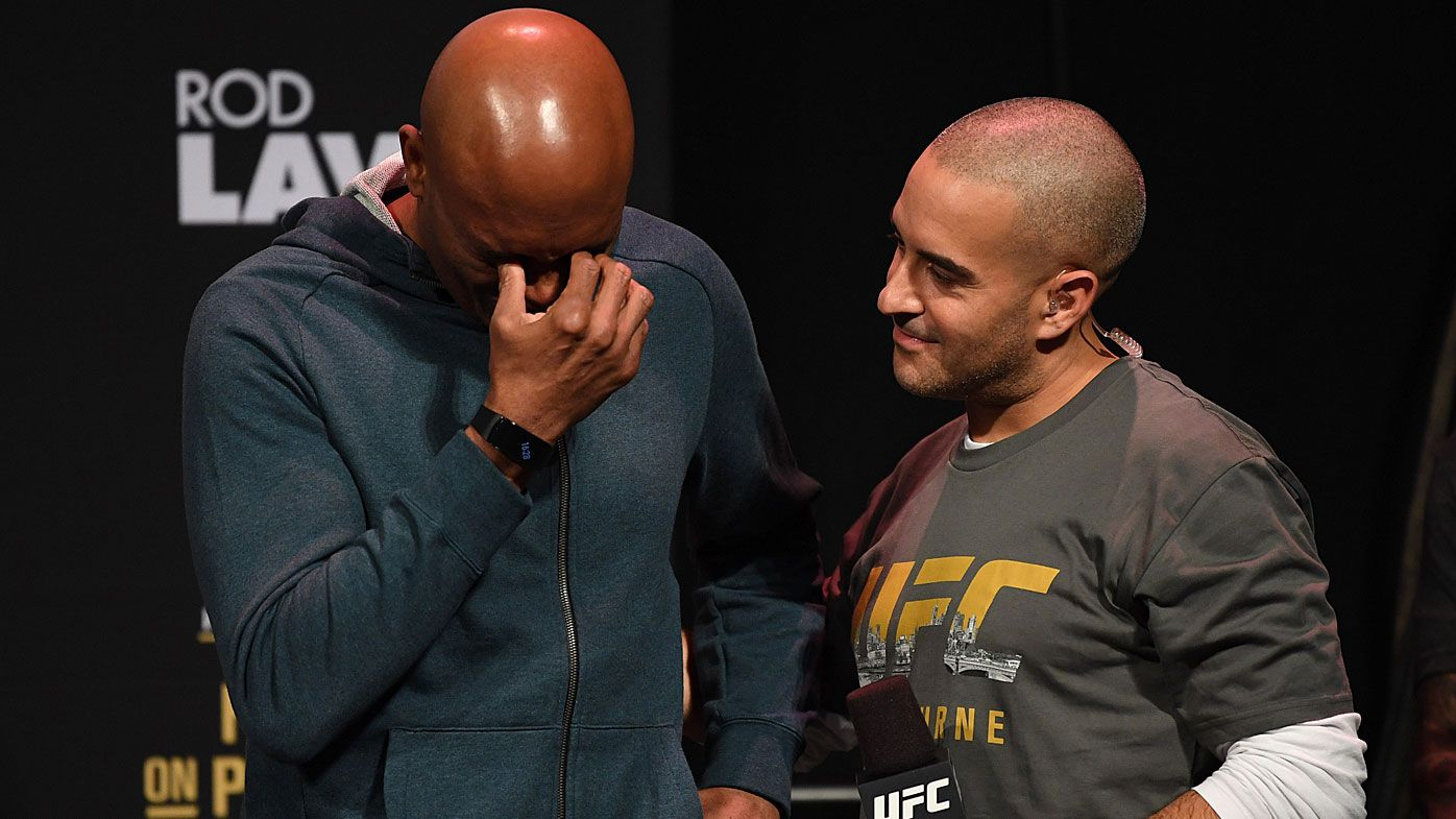 Anderson Silva breaks down at weigh-in