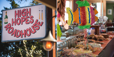 High Hopes Roadhouse sign and lolly shop