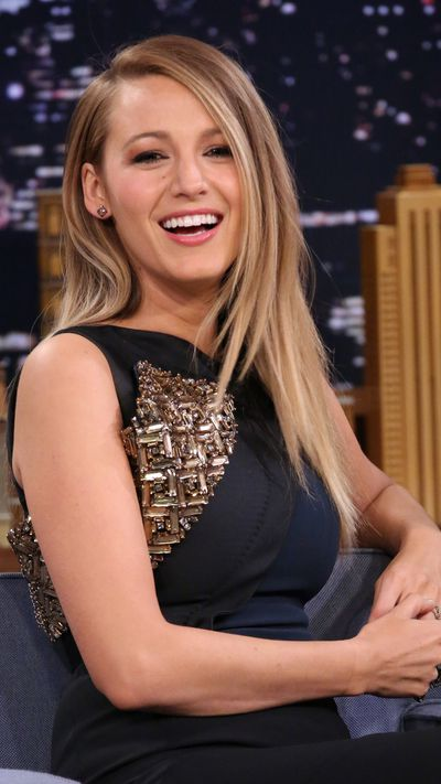 Super sleek and poker straight for her appearance on The Tonight Show with Jimmy Fallon.