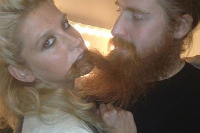 "This was the beard shot that started it all. Ke$ha posted this pic of herself munching on an unnamed man's beard on her Facebook...and the fetish was born. Image:<a href=""http://putyourbeardinmymouth.tumblr.com/"">putyourbeardinmymouth.tumblr.com</a>"