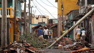 A ruined street in Baracoa, Cuba. (AP)