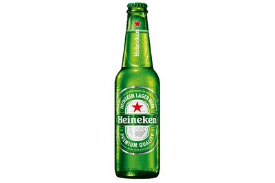 Heineken beer: Almost three quarters of a bottle is 100 calories