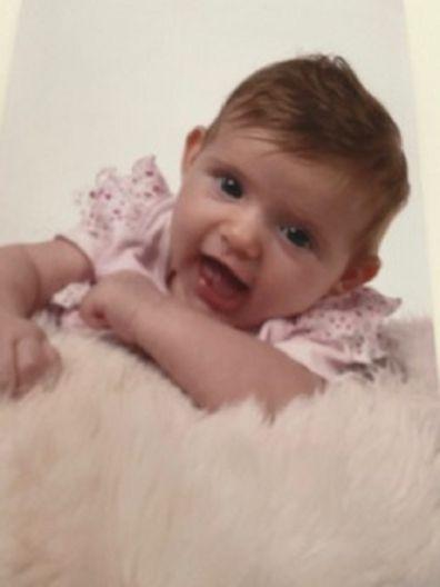 Francesca as a baby