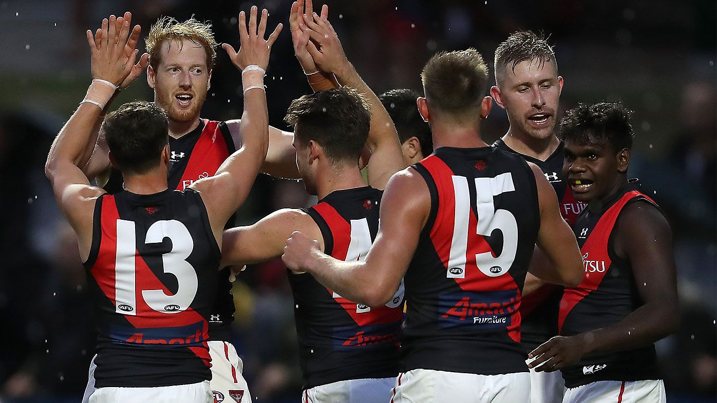 New-look Bombers brave lightning delay to overcome West Coast in pre-season opener
