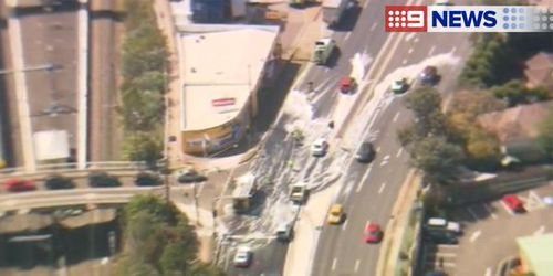 Emergency services and traffic management crews were on scene to assist. (9NEWS)