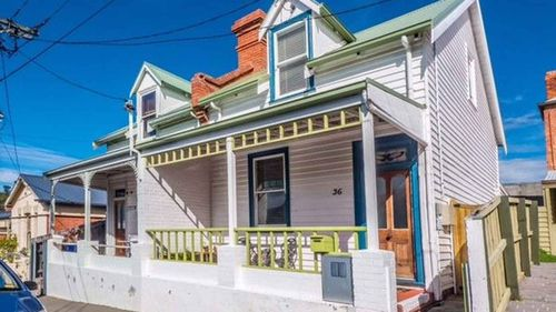 A Victorian terrace in North Hobart is only slightly more than the median rental price for the city.