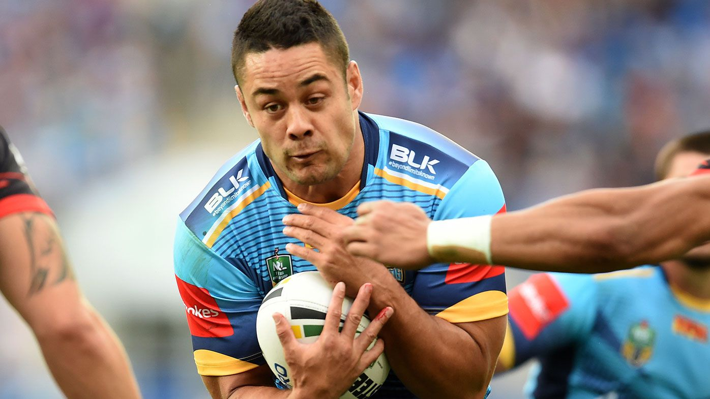 Jarryd Hayne is set to make his run-on debut for the Titans. (AAP)